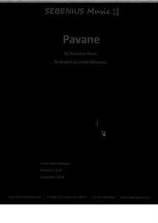 Pavane pour une infante défunte (Pavane for a Dead Princess), M.19: For flute trio by Maurice Ravel