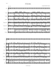 El Gavilan for Intermediate Mariachi: Full score, parts by folklore