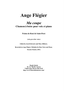 Ma coupe: For bass voice and piano by Ange Flégier