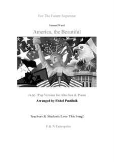 America the Beautiful: For alto sax and piano by Samuel Augustus Ward