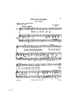 Six Poems, Op.4: No.5 Den gamle Vise (The Old Song) by Edvard Grieg