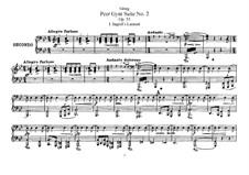 Suite No.2, Op.55: For piano four hands by Edvard Grieg