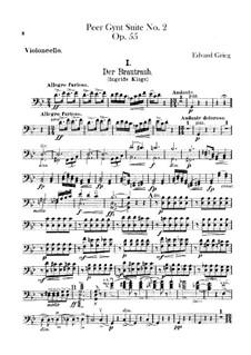 Suite No.2, Op.55: Cello part by Edvard Grieg