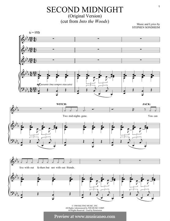 Second Midnight (Original Version): For voice and piano by Stephen Sondheim