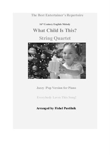 What Child is This (Christmas Carol): For string quartet by folklore