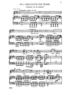 No.2 Comfort Ye My People: Piano-vocal score by Georg Friedrich Händel
