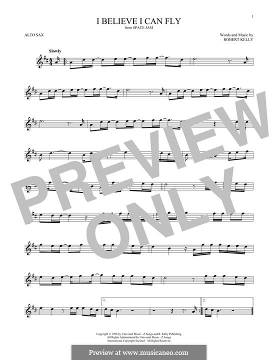 I Believe I Can Fly: For alto saxophone by Robert Kelly