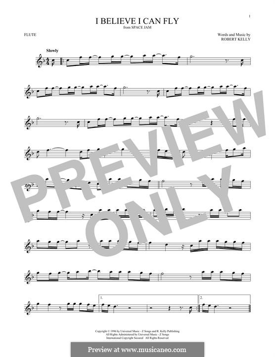 I Believe I Can Fly: For flute by Robert Kelly