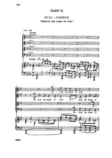 No.22 Behold the Lamb of God: No.22 Behold the Lamb of God by Georg Friedrich Händel