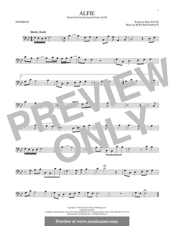 Alfie: For trombone (Dionne Warwick) by Burt Bacharach