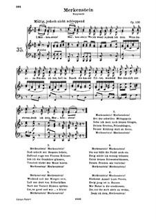 Merkenstein, Op.100: Piano score with vocal parts by Ludwig van Beethoven