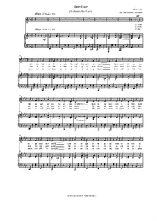 Die Ilse. A Viennese song: For bass (or alto) and piano (in A flat) by Kurt Lojka