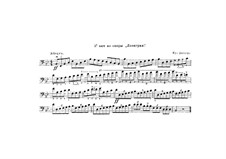Fragments: Double bass part by Richard Wagner