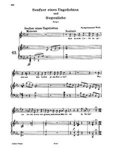 Seufzer eines Ungeliebten und Gegenliebe, WoO 118: Piano-vocal score by Ludwig van Beethoven