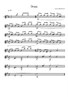 Этюд для гитары ми минор: Этюд для гитары ми минор by Konstantin Schenitsyn