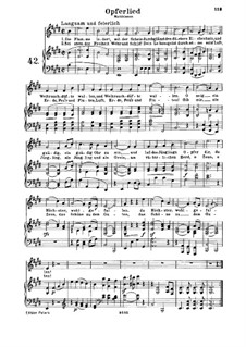 Opferlied, WoO 126: Piano score with vocal part by Ludwig van Beethoven