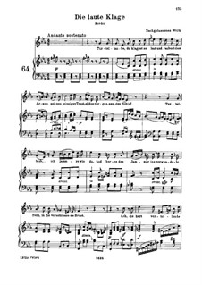 Die laute Klage (The Loud Complaint), WoO 135: Die laute Klage (The Loud Complaint) by Ludwig van Beethoven