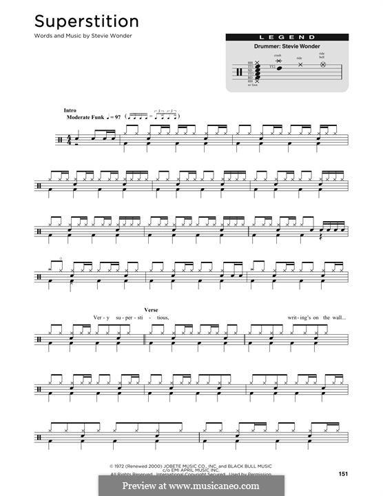 Superstition: Drum set by Stevie Wonder