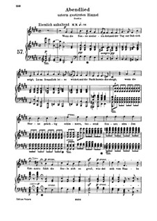 Abendlied unterm gestirnten Himmel (Evening Song Under a Starry Sky), WoO 150: Piano score with vocal part by Ludwig van Beethoven