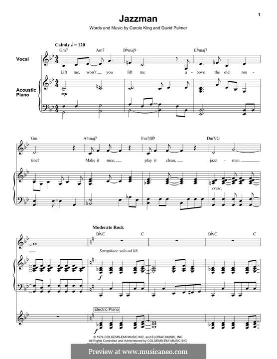 Jazzman: For voice and piano (or guitar) by David Palmer