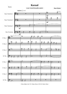 Koraal en Madrigaal: For four trombones by Hans Bakker