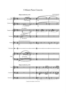 5-Minute Piano Concerto: Score by Hans Bakker