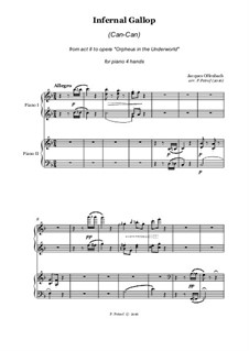 Can-Can: For piano four hands by Jacques Offenbach