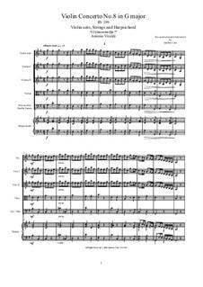 Concerto for Violin and Strings in G Major, RV 299 Op.7 No.8: Score, parts by Antonio Vivaldi