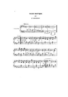 Valse rustique, Op.24: Valse rustique by Peter Cavallo