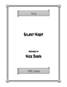 Silent Night (Downloadable): For piano (late elementary jazz) by Franz Xaver Gruber