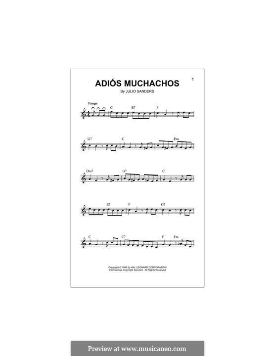 Adios Muchachos: Melody line by Julio Cesar Sanders