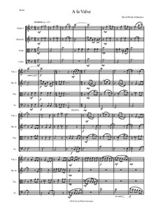 A la valse: For string quartet by David W Solomons