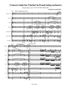 Concert etude for Clarinet in D and string orchestra: Concert etude for Clarinet in D and string orchestra by Hristo Tsanov
