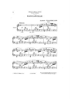 Barcarolle, Op.15: Barcarolle by Albert Chandelier