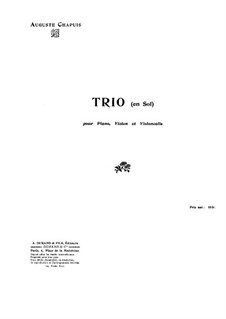 Piano Trio in G Minor: Full score by Auguste Chapuis