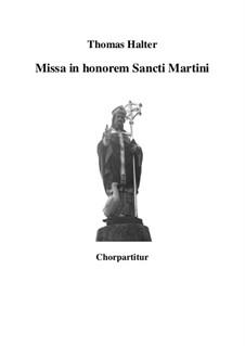 Missa in honorem Sancti Martini: Vocal score by Thomas Halter