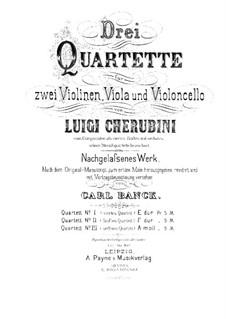 String Quartet No.4 in E Major: Violin II part by Luigi Cherubini