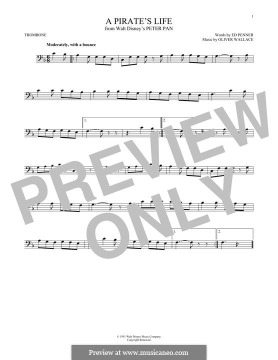 A Pirate's Life (Oliver Wallace): For trombone by Ed Penner