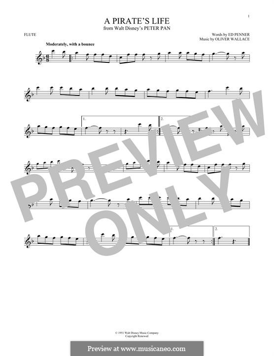 A Pirate's Life (Oliver Wallace): For flute by Ed Penner