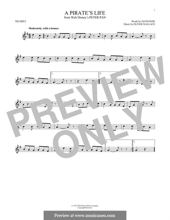 A Pirate's Life (Oliver Wallace): For trumpet by Ed Penner