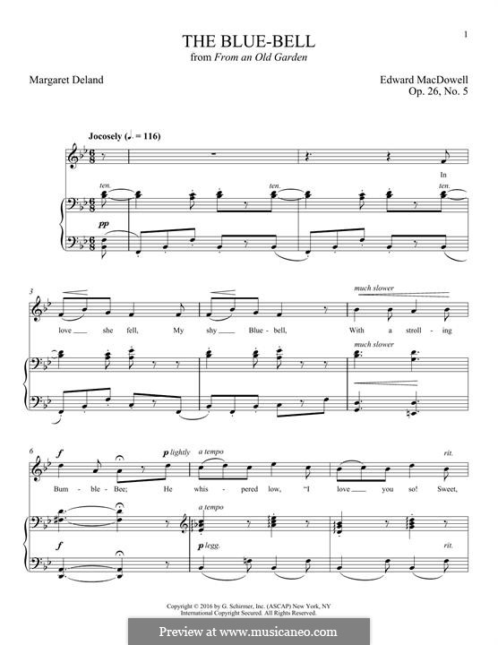 The Blue-Bell: For voice and piano by Edward MacDowell