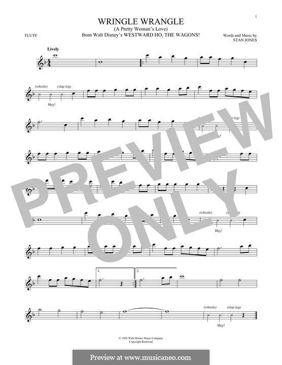 Wringle Wrangle (A Pretty Woman's Love): For flute by Stan Jones