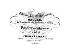 Recueil de Compositions brillantes et faciles, Op.111: Recueil de Compositions brillantes et faciles by Carl Czerny