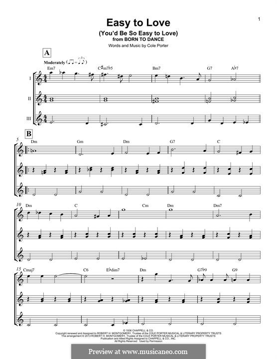 Easy to Love (You'd Be So Easy to Love): For ukulele by Cole Porter