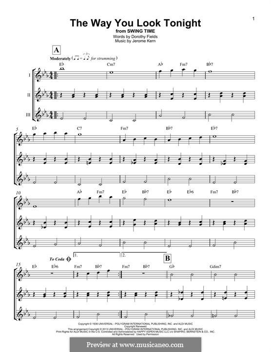 The Way You Look Tonight: For ukulele by Jerome Kern