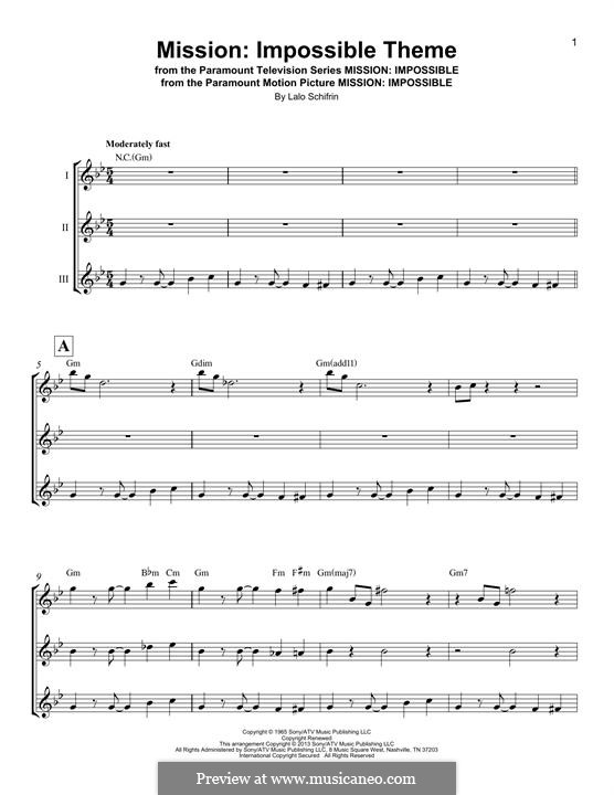 Mission: Impossible Theme: For ukulele by Lalo Schifrin