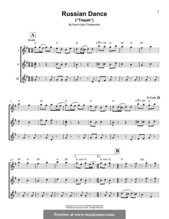No.4 Russian Dance (Trepak): For ukulele by Pyotr Tchaikovsky