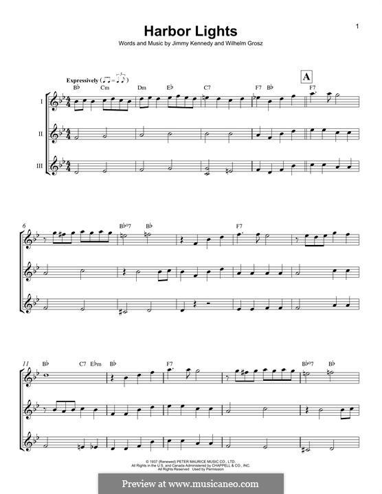Harbor Lights: For ukulele by Wilhelm Grosz, Jimmy Kennedy