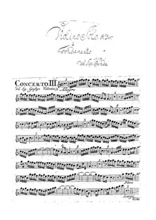 Concerti A5 No.3-4 (parts): Concerti A5 No.3-4 (parts) by Giuseppe Valentini
