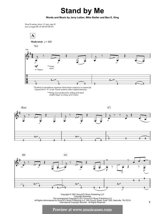 Stand By Me: For guitar with tab by Ben E. King, Jerry Leiber, Mike Stoller